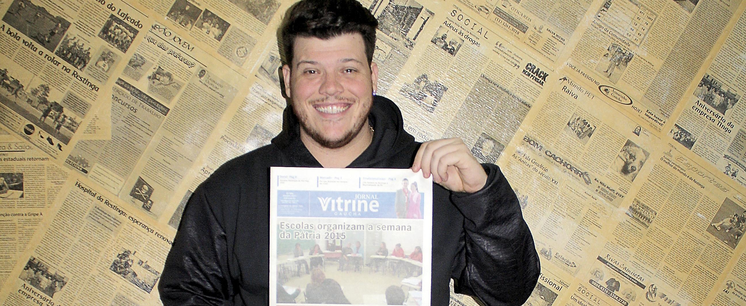 Ao passar por Porto Alegre, Ferrugem deu uma parada no Jornal Vitrine.