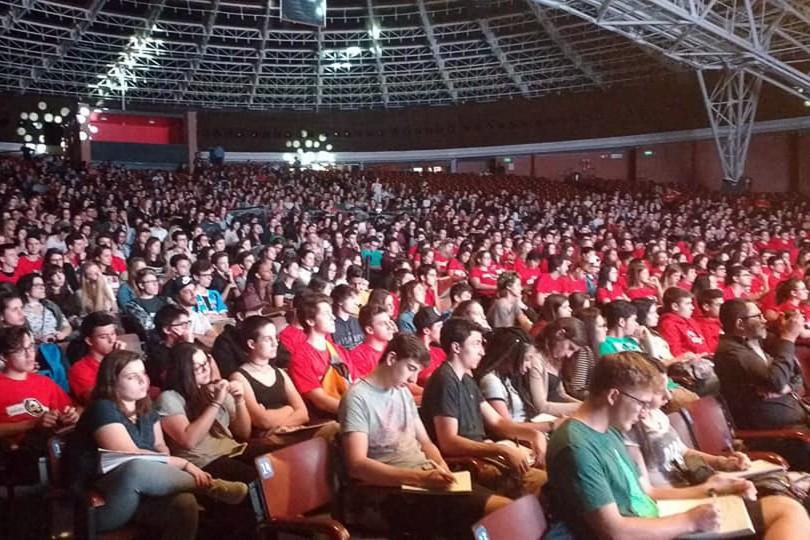 Porto Alegre, RS - 01/11/2017 Mais de dois mil jovens participaram do aulão pré-Enem Local: Auditório Araújo Vianna Foto: Filipe Tsibierek/Divulgação PMPA