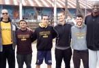 Valtencir Cruz com alguns dos atletas americanos e o organizadores do bairro
